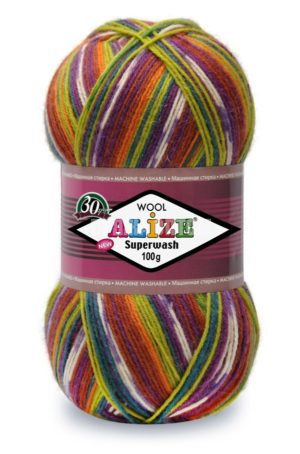 Пряжа Alize SUPERWASH 100 (Ализе Супервош 100)